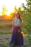 Country Girl Retro Royalty Free Stock Images