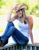 Country girl - smiling Stock Images