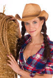 Country Girl Smiling Chest Cleavage Showing royalty free stock image
