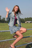Country Girl Waves Stock Photography