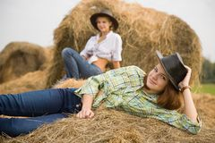 Country girls Stock Images