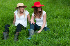Country Girls Stock Image