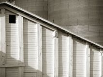 Country Grain Depot with Silos detail stock image