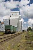 Country grain elevator Stock Images