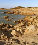 The country of the granite. Both granite and the sea on the island of Maddalena in Sardinia Royalty Free Stock Photos