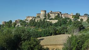 The country of Gualdo Cattaneo. Foreshortening of the small country of Gualdo Cattaneo, Umbria, Italy Stock Photo