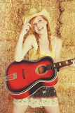 Country Guitar Girl Royalty Free Stock Photo