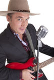 Country guitar man Royalty Free Stock Photography