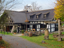 Country Half-Timbered House in Germany. Old Half-Timbered House in a Small Village in Germany Stock Image
