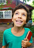 Country happy boy close up portrait Royalty Free Stock Photography