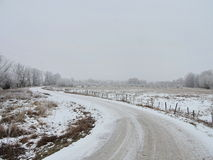 Country highroad, Lithuania Royalty Free Stock Photo
