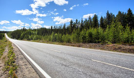 Country Highway. Photo of a Country Highway in Sweden Royalty Free Stock Photo