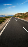 Country Highway. At the Rhodes, Greece stock photos