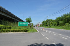Country Highway. In Bangkok, Thailand Royalty Free Stock Photography