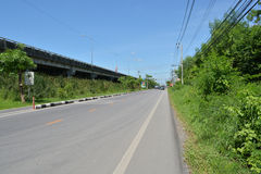 Country Highway. In Bangkok, Thailand Stock Image