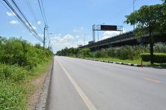 Country Highway. In Bangkok, Thailand Royalty Free Stock Photo
