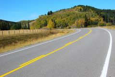 Country Highway in Canada Stock Photos