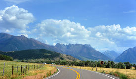 Country Highway in Montana Stock Image