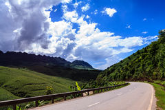 Country Highway. Highway on road to Son La province, north Vietnam Stock Photography