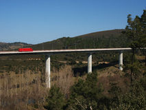 Country Highway Viaduct on Portugal Royalty Free Stock Photos