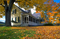 New Hampshire Home in Autumn Royalty Free Stock Photo