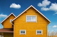 Country home. On bluu sky background Stock Photo