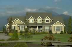 Country Home. Large country style home built in Chilliwack, British Columbia Royalty Free Stock Images