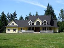 Country Home. A nice home with a large yard royalty free stock photography