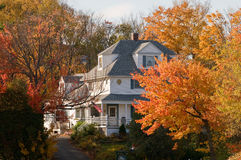 Country home in autumn Royalty Free Stock Images