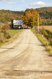Country Home At The End Of A Dirt Road Stock Photos