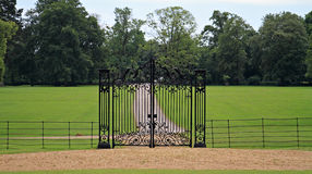 Country home gate Stock Photo
