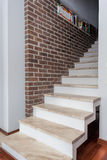 Country home - white staircase Stock Images