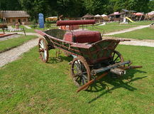 Country horse-drawn carriage. Royalty Free Stock Photos
