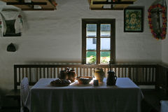 Country house. Old countryhouse dining room  in central Europe -Croatia Royalty Free Stock Photography