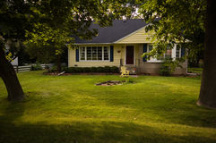 Country House. Typical Country House and lawn Royalty Free Stock Photo