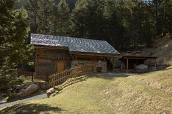 Country House. In the European Alps Royalty Free Stock Photography