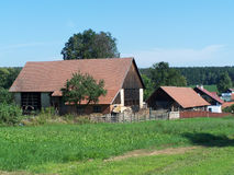 Country house. Detail view of country house on rural landscape Stock Image