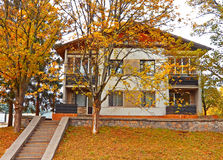 Country house. Beautiful country house in the autumn Stock Image