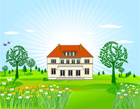 Country house Stock Images