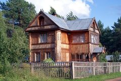 Country house. On the brink of wood Stock Photos