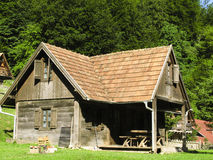 Country house. Old wooden country house in central Europe - Balkans - Croatia Royalty Free Stock Photos