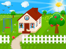 Country House. Vector illustration of a country house Royalty Free Stock Photos