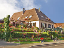 Country house. Alsace. France Royalty Free Stock Photo