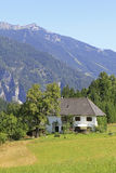 Country house. In the austrian alps Royalty Free Stock Photography