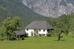 Country house. In the austrian alps Stock Image