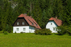 Country house. In the austrian alps Royalty Free Stock Photo