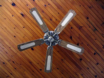 Country house ceiling fan. Bottom up view Stock Photo
