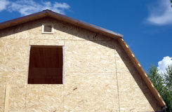 Country house construction on sunny summer day Stock Images
