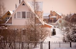 Country house (dacha) Royalty Free Stock Photos