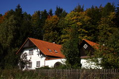 Country house - forester´s lodge Stock Photos